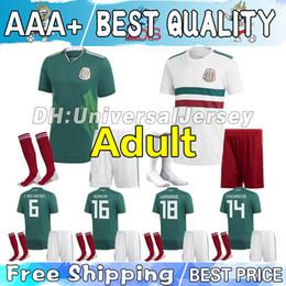 2018 copa mundial México casa fútbol verde camiseta verde KIT PARA ADULTOS  CHICHARITO G.DOS SANTOS Camiseta blanca de fútbol de visitante completa con  ... ace99c93073b9