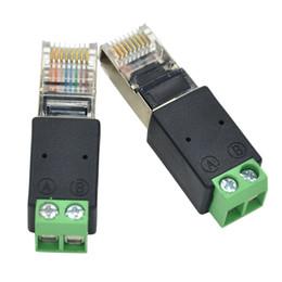 Conector de red RJ45 macho 8P8C enchufe modular a los terminales de tornillo adaptador RS485 en venta