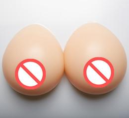 Goutte d'eau Silicone fausse faux sein Formes Insert Bra Mastectomie artificielle poitrine pour Croix raboteuse Faux sein