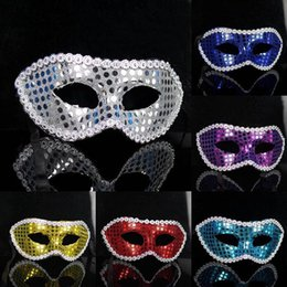 Animal Halloween Costumes For Women NZ - P062 Multicolor Costume Party Halloween Masquerade Performing Masks Women Dot Sequins Cardin Half Face Mask Free Shipping