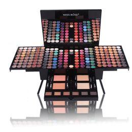 Venta al por mayor de MISS ROSE Maquillaje en forma de piano Kits de paleta de sombra de ojos 180 Color conjunto completo de maquillaje Mate Shimmer Blush Powder mejor regalo