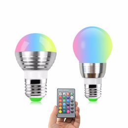 China E27 Led RGB Bubble Ball Bulb AC 220V 110V 5W 7W 16 Colors Led Lamp Night Light With 24 Keys Remote Controller Home Lighting Deco supplier bubble ball bulb lamp suppliers