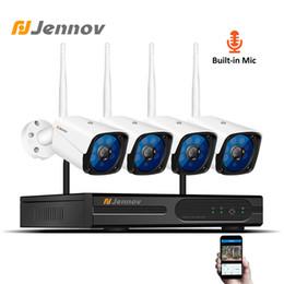 Cctv Wifi Ip Australia - Jennov Audio System 4CH 1080P CCTV Camera System Video Surveillance Kit IP Camera CCTV Kit HD Infrared Camara Security Wifi