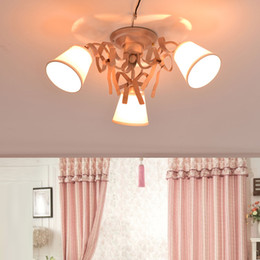 Princess ceiling light online princess ceiling light for sale korean pastoral living room bedroom ceiling lamps iron art pink led children lamp girl princess ceiling lights lamp originality lamp mozeypictures