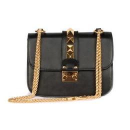 China Fashion Luxury Designer Ladies Handbags Valentine Italian Genuine Leather Bag Rivet Chain Crossbody Bags For Women Shoulder Bags cheap italian leather ladies bag suppliers