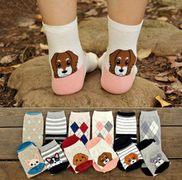 AnimAl girls tube online shopping - Korea Style Stereo Dog Socks Women Big Girl Cotton Cartoon Socking Middle tube socks top quality