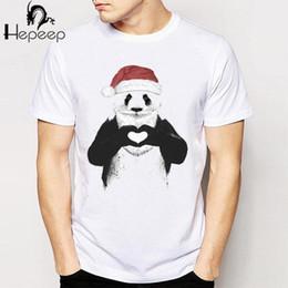 22cbee3d New 2018 Summer fashion Xmas is coming dog Design T Shirt Men's High Quality  super funny santa panda Tops Hipster Tees 10 cool