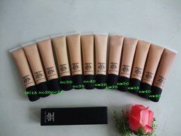 Oil Free Makeup Brands NZ - New Top quality Hot Brand Makeup Foundation SPF15 Concealer 12 Colors ContourDHL Free shipping