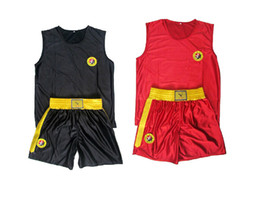 kids kick boxing 2019 - Mma Muay Thai Boxing Shorts Kick Boxing Pants Sanda Wushu Kungfu Trunks For Kids Children And Men Boxing Jersey Short di