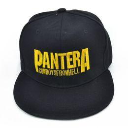2e1076bbd1 Sombreros de vaquero de moda para las mujeres online-Pantera Heavy metal  band Carta Gorras 8 Fotos