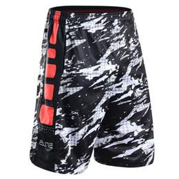 New Summer Basketball Shorts Men Knee Length Elastic Waist Pocket Sport Fitness Short Trouser Male Plus Size