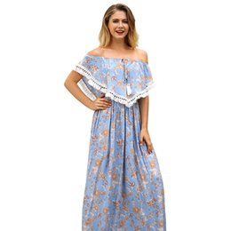 $enCountryForm.capitalKeyWord UK - 2018 Hot style female dress in the printed strapless dress seaside holiday beach dress female 65414