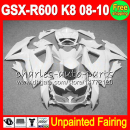 Unpainted Fairings Australia - 8Gifts Unpainted Full Fairing Kit For SUZUKI GSX-R600 08-10 GSXR600 GSXR 600 GSX R600 K8 08 09 10 2008 2009 2010 Fairings Bodywork Body kit