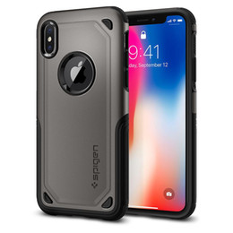 Vente en gros SGP spigen Hybrid Armour Double couche Tough Case Heavy Duty Protecteur antichoc Defender pour iphone X S R max 8 7 plus 6 / 6s plus s9 s8p note9
