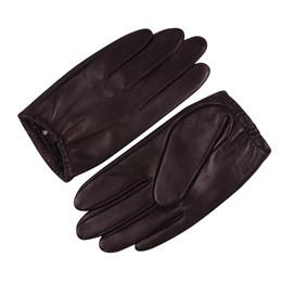Men Gloves Leather Sheepskin Australia - Sheepskin Gloves Male Winter Keep Warm Waterproof Windproof Thin Velvet Lined Touchscreen Genuine Leather Man Gloves M18001PQ-9