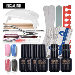 $enCountryForm.capitalKeyWord Canada - Faux Fur Nail Art Tools Cure 6W UV Lamp Gel Polish Soak Off Base Coat Top Coat Nail Manicure Kits Professional Nail