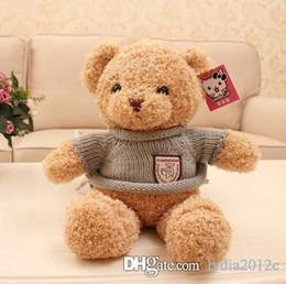 $enCountryForm.capitalKeyWord Canada - New Arrival Giant Teddy Bear 006 Sweater Cloth Dolls Unisex Plush Stuffed Skin Brown Chestnut Color High Quality Gift Toys