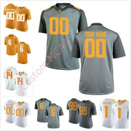 Custom NCAA Tennessee Volunteers 6 Alvin Kamara 58 Aaron Adams 98 Alexis  Johnson 14 Eric Berry Any Name College Football Jersey Orange White bfcabea31