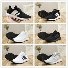 free shipping 2014 newest 2018 Hot Sale Swift Run Weaving Fly Comfortable Black White Grey Running Shoes for High quality Mens Women Casual Sports Sneakers Size 36-44 cheap classic cheap purchase FLvyj