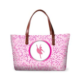 $enCountryForm.capitalKeyWord NZ - Pink Large Handbag Women Casual Tote Bag Girls Summer Hand Bag Ballet Printed Shoulder Bags for Teenagers Fashion Shopping Bag Beach Bags