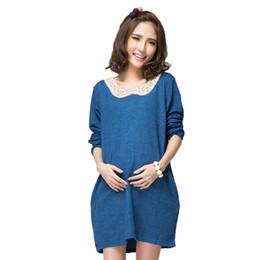 ed31a3f66 camisetas de maternidad de Corea desgaste dulce diseño de las mujeres  embarazadas tapas largas camisetas más ropa de embarazo otoño primavera  camisetas de ...