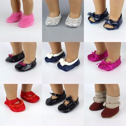 Shoes For American Girl Dolls Australia - Wholesale-Fashon Shoes For 18inch American Girl Doll 45cm Doll Accessories