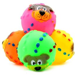 $enCountryForm.capitalKeyWord UK - 1pcs Pet Cat Dog Toys Soft Rubber Dog Face Chew Squeaker Squeaky Toys sound toys rubber dog squeaky ball pet supplies funny gift