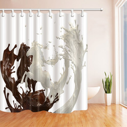 $enCountryForm.capitalKeyWord Canada - Brown White Personality Pattern 69 X 70 Inch Polyester Fabric Shower Curtain Waterproof Mildew Bathroom Supplies Blackout Hanging Curtains