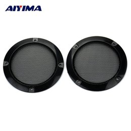 China AIYIMA 2Pcs 3Inch Audio Portable Speakers Black Circle Speaker Protective Grille Decorative with DIY for Car sound Box suppliers