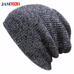 e95ec3f3bd196 2018 Knit hat Mans Hat Winter Women Hats For Men Autumn Winter Mens Caps  Knit Warm Hats Beanies Wool Cap Messy Bun Beanie