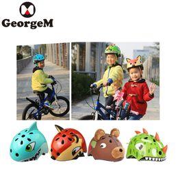 Discount cute carton animals - 2018 Cute Kids Carton Cycling Helmet 50-58cm Animal Ultra Light Children Cycling Animal Helmet Road Bicycle Kid
