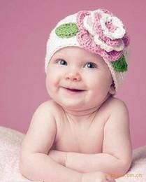 $enCountryForm.capitalKeyWord Australia - Fashion Newborn Cute Baby Photo Props Handmade Knitted Flower Hat Cartoon Infant Phography Shoot Accessory PZ030