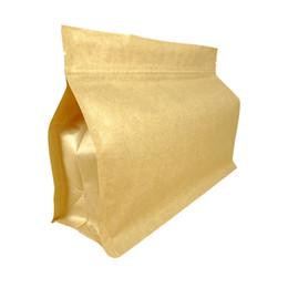 $enCountryForm.capitalKeyWord UK - kraft paper eight edge big open sealing bag zip lock brown bag,thicken packaging tea,coffee,nut,grain food package stand pouch