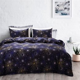 outer space themed bedding NZ - 2018 Bed Cover Set Bedsheet Pillowcase Newest Duvet Cover Set Home Textile Bedding Sets Universe Outer Space Themed Bed Linen