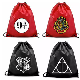 Discount backpack 2018 Harry potter Drawstring Pocket Bags Fashion School Canvas Bag Backpacks Harry Potter Shopping bags Pouch 4 design KKA5752