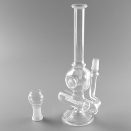 "$enCountryForm.capitalKeyWord Australia - Mini glass bong 8"" water pipe oil rig glass bong bubbler recycler oil rig bongs 14mm male joint with glass bowl"