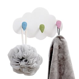 holder for door 2019 - Creative Clouds&Raindrops Wall Hangers Towel Hats Bag Holder Hooks For Kitchen Bathroom Hanging Door Organizer Wall Deco