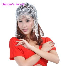 Wholesale belly dance clothes women belly dance  hat girls tassel hat accessories