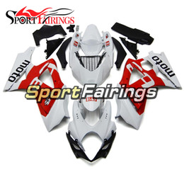 China Complete Injection White Red Pattern Fairings For Suzuki GSXR1000 GSX-R1000 K7 07 08 2007 2008 Sportbike ABS Plastic Motorcycle Cowlings supplier pattern motorcycle fairings suppliers