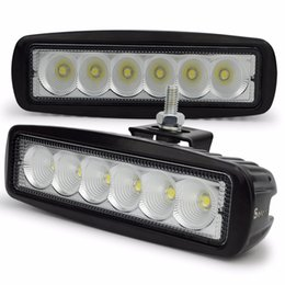 $enCountryForm.capitalKeyWord Australia - 2pcs 12V 18W LED work light bar lamp tractor work lights LED off road 4X4 24V led offroad light bar spot flood beam 2pcs lot free shipping