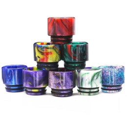 Discount vape rda atomizer - Top 510 810 TFV8 Epoxy Resin Drip tips Wide Bore Dripper tip Mouthpiece for TFV12 Beast Prince Tank RBA Atomizer e cigar
