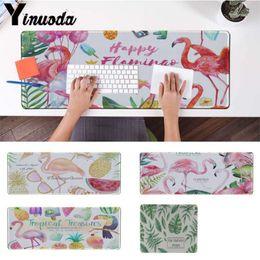 Yinuoda Acquerello Pianta lascia flamingo Frutta Gamer Velocità Mouse gomma Mousepad Dimensioni per 30x90cm e 40x90cm Gaming tappetini per il mouse