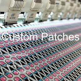 Embroidered Name Patches Australia - Logo Custom Iron on Patches Embroidered Patch Sew on Badges Name Badge Round