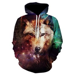 Cool Sweatshirt Jackets Australia - Fashion Cool Wolf Hoodies Men Women Thin 3D Sweatshirts with Hat Animal Print Tiger Hoodie Sweatshirt Mens Tracksuit Jackets