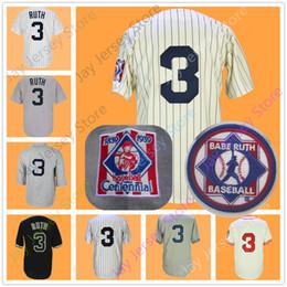Button downs online shopping - Babe Ruth Jersey Baseball Centennial Patch White Cream Pinstripe New York Boston Pullover Button Down Home Away