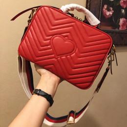 Women Wallet red genuine leather online shopping - Hot High quality brand luxury handbag shoulder bag designer handbag woman fashion chain printing bag wallet phone bag