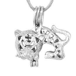 $enCountryForm.capitalKeyWord UK - New Design Tiger plated sliver Cage Pendant Pearl Gem Bead Locket Pendant Mounting DIY Charms Accessory P90