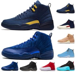 CyCle games online shopping - Michigan Vachetta Tan s College Navy men basketball shoes bulls UNC Flu Game the master black white taxi Sports sneakers US