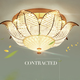 $enCountryForm.capitalKeyWord NZ - LED Modern Crystal Ceiling Lamps American Sunflower Ceiling Lights Fixture European Romantic Lamp Home Indoor Lighting 3 Colors Dimmable