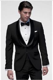 men wedding beautiful suits 2019 - Custom Made Black Groom Tuxedos Beautiful Men Formal Suits Business Men Wear Wedding Prom Dinner Suits (Jacket+Pants+Tie